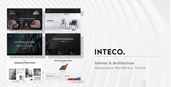 inteco interior design architecture wordpress theme design rh in pinterest com