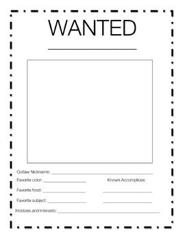 Wild West WANTED Poster · Wild WestTemplate  Free Printable Wanted Poster