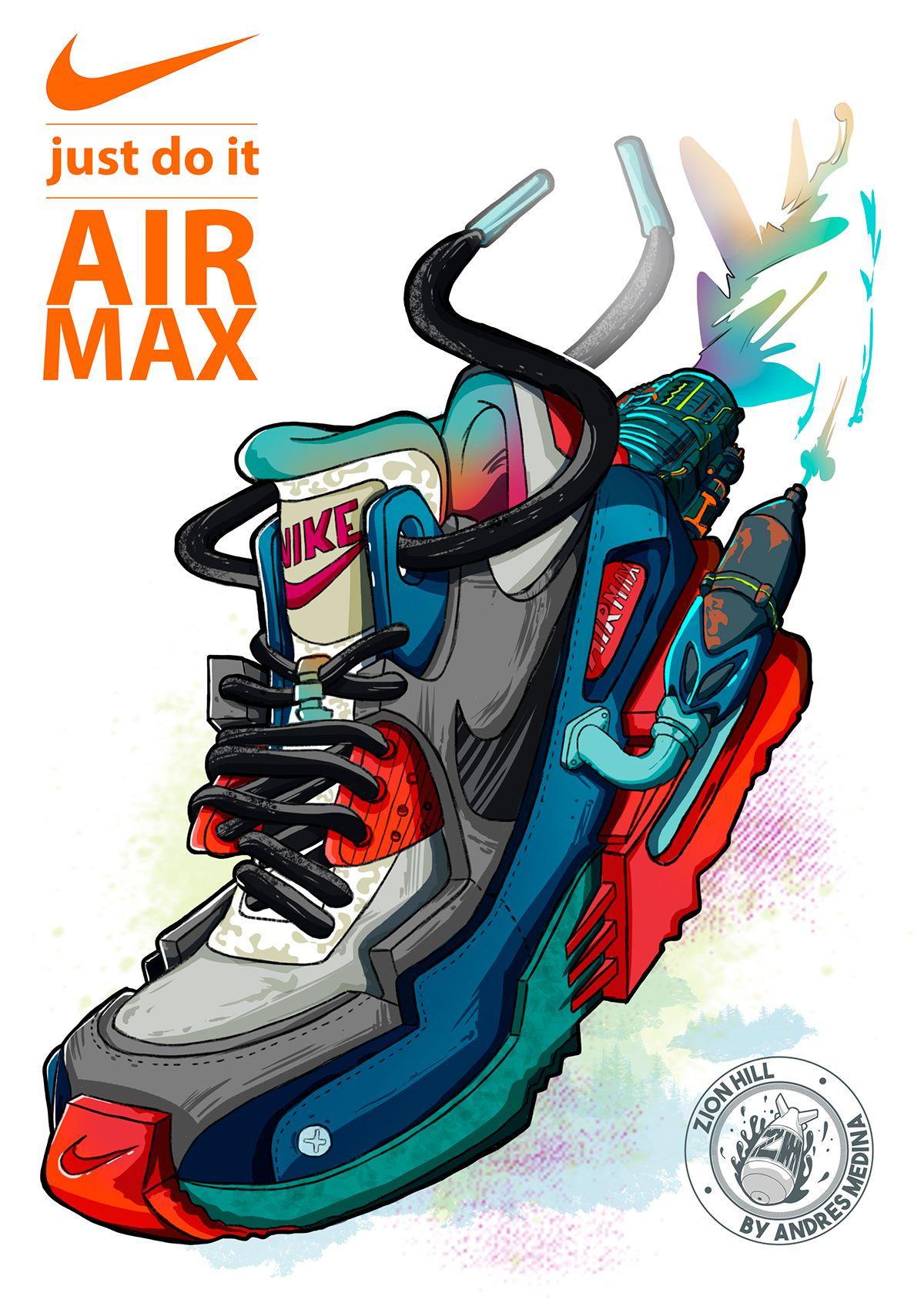 Nike Airmax On Behance スニーカー ストリートアート イラスト