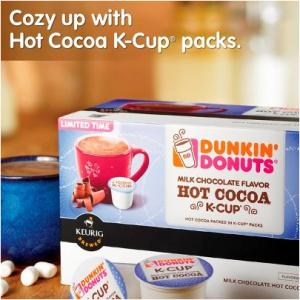 Dunkin' Donuts Hot Cocoa Kcups Dunkin donuts, Dunkin