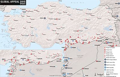 UNHCR 2015 Turkey country operations map | Middle East | Pinterest ...