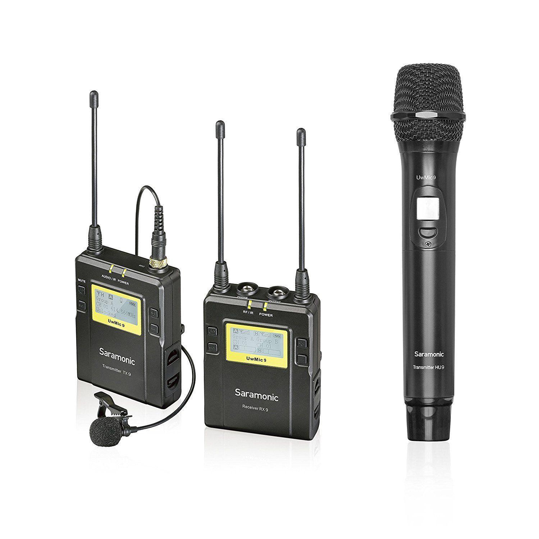Saramonic Uwmic9 Uhf Wireless Lavalier Handheld Microphone System With Bodypack Transmitter Lav Mic Handheld Mic With Transmit Bodypack Lav Mic Microphone