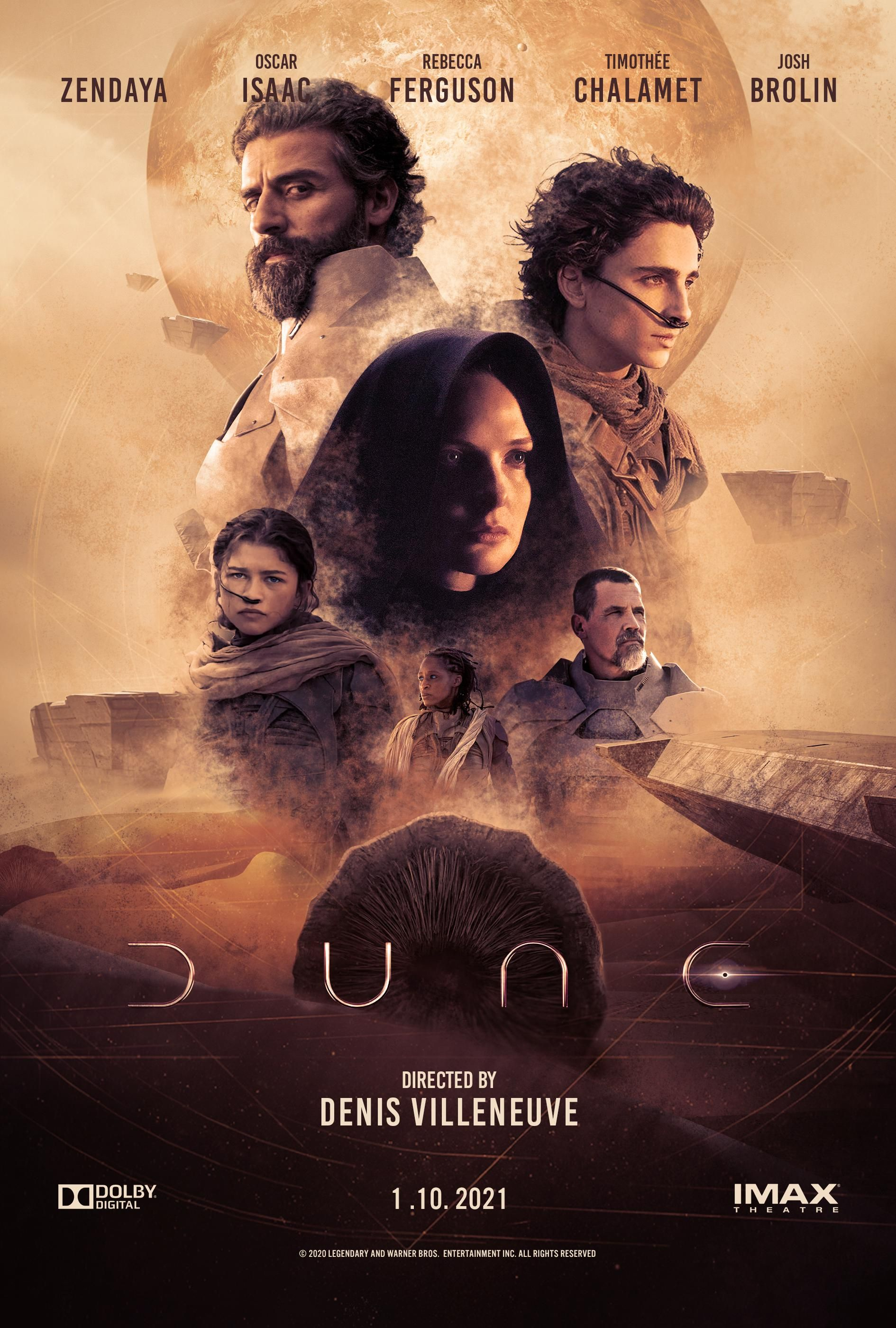 Dune 2021 Movie Poster Movie Posters Science Fiction Movie Posters Best Movie Posters