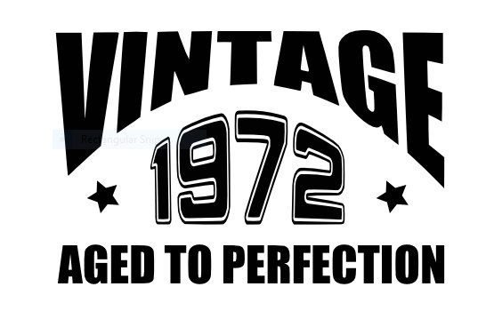 Vintage 1972 Aged To Perfection Svg Cricut And Cameo Aged To Perfection North Face Logo Retail Logos