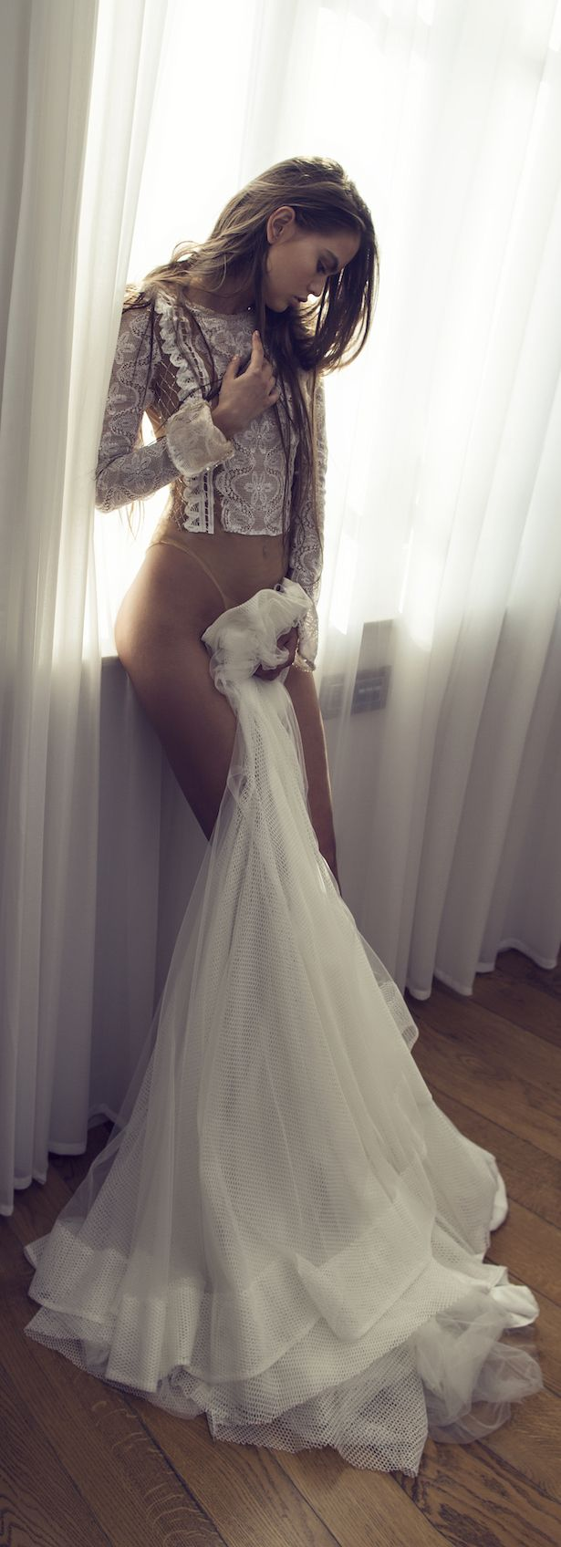 Lace wedding dress open back say yes dress  Zahavit Tshuba  Bridal Collection  Bridal collection Designers
