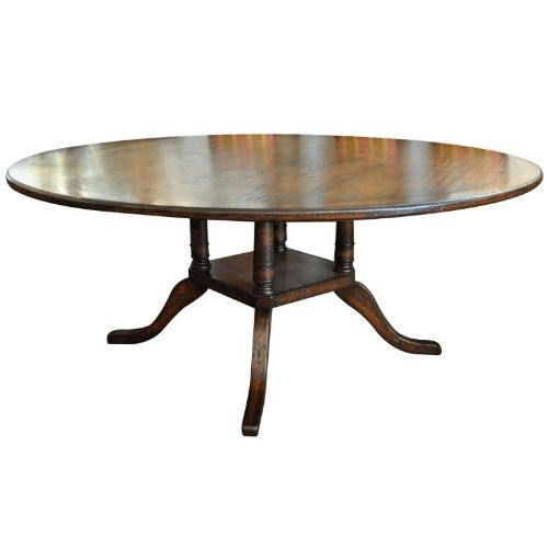 large round dining table seats 12 | ... Antiques - French Reproduction Large Round Pedestal Dining Table