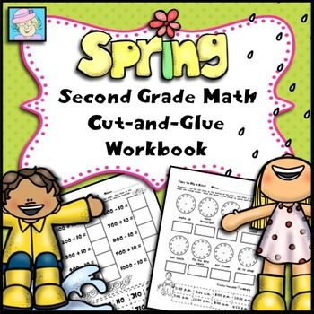 This 38-page workbook covers all 26 of the second grade Common Core Standards* in mathematics.  There are 1 or more pages devoted to each standard. The pages come in a cut-and-glue format. $