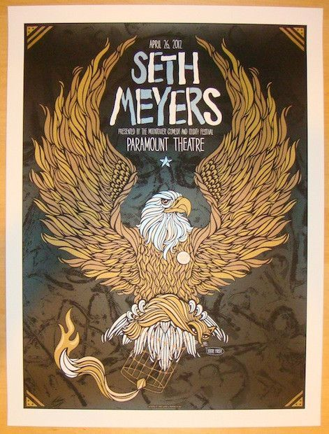 2012 Seth Meyers - Austin Concert Poster by Todd Slater