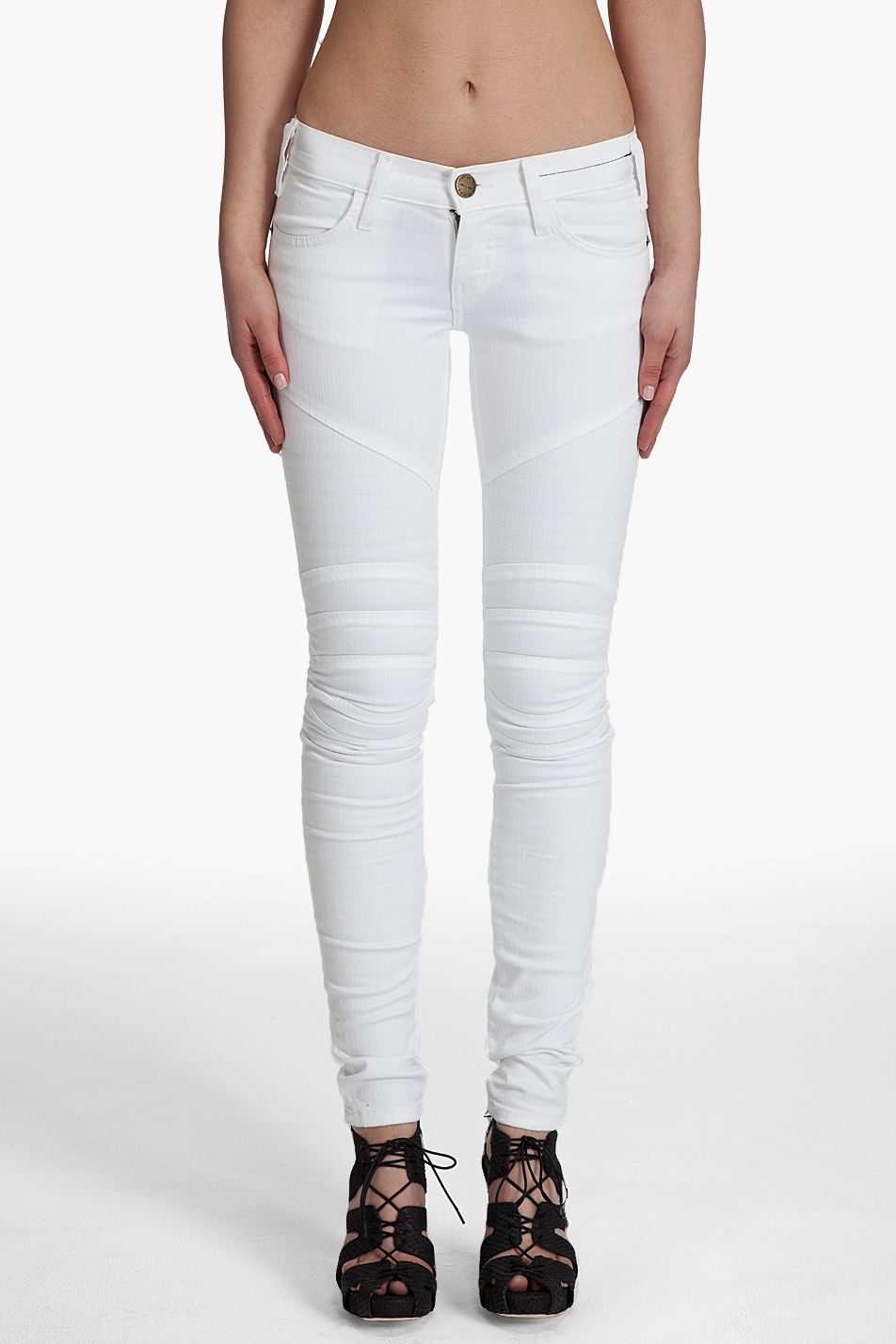 Awesome White Jeans for Women : White High Waisted Skinny Stretch ...