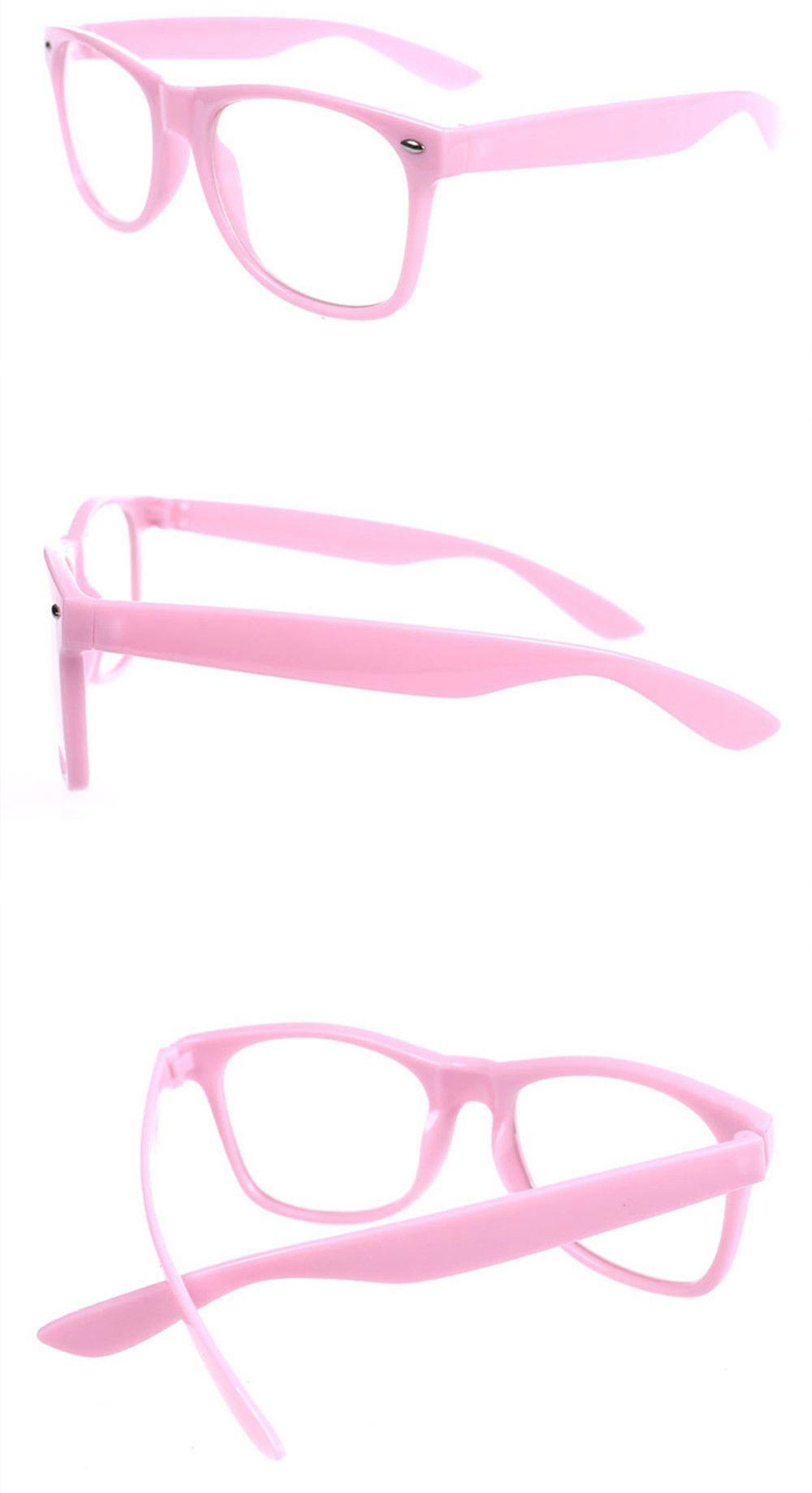 Vintage Inspired Classic Wayfarer Style Clear Lens Glasses Frame Eyewear