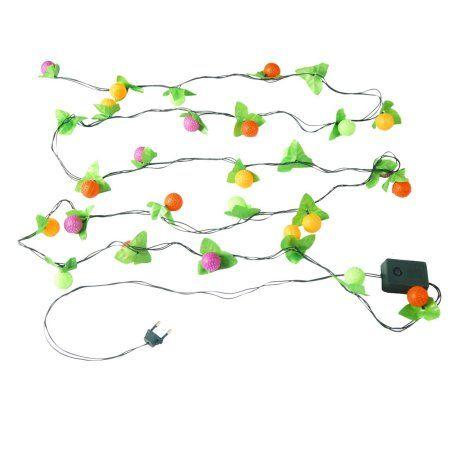 $8.29+ FREE shipping Festivals Decor 220V Grape Green Leaves Colorful LED Hanging Vine 11Ft
