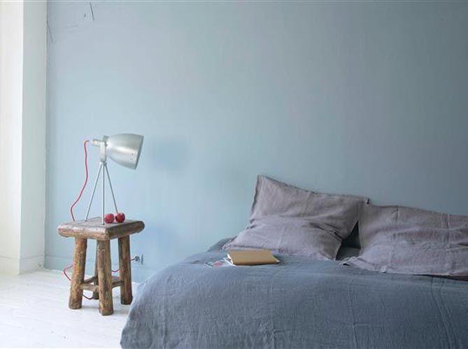Une peinture gris bleuté pour la douceur chambre Pinterest - peinture chambre gris et bleu