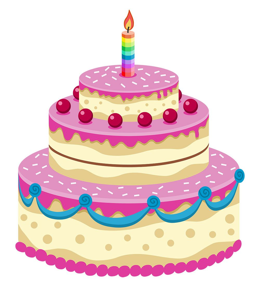 Cake Clip Art Pink : Pin by Ms Edd Pen on Birthday-cakes Pinterest Birthday ...