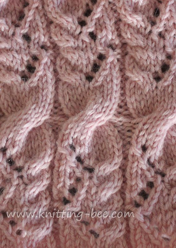 Cabled Lace Knit Stitch Pattern Knitting Board For Jlm Pinterest