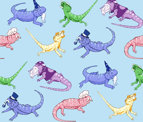 Colorful Fabrics Digitally Printed By Spoonflower Bearded Dragons Bearded Dragon Cute Bearded Dragon Terrarium Bearded Dragon Diy