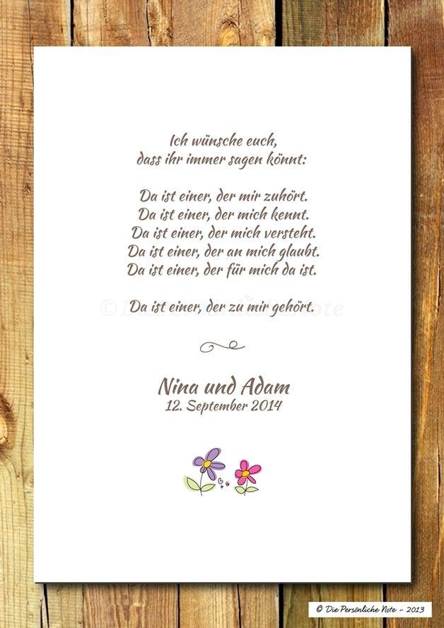 Druckwandbildprint Segenswunsch Hochzeit Gedichte Zur