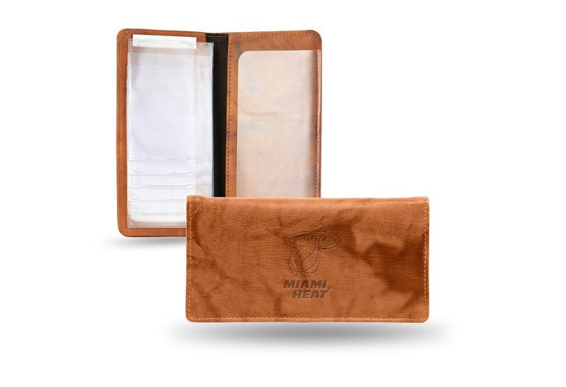 Miami Heat NBA Embossed Leather Checkbook Cover