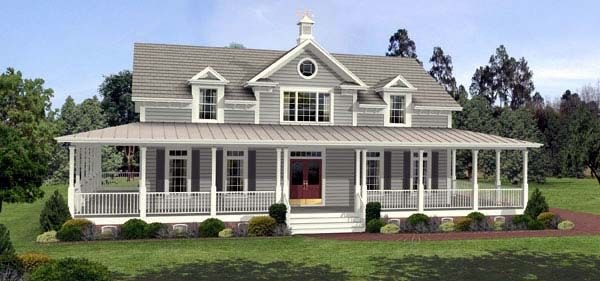 Southern Style House Plan with 3 Bed 3 Bath 3 Car Garage