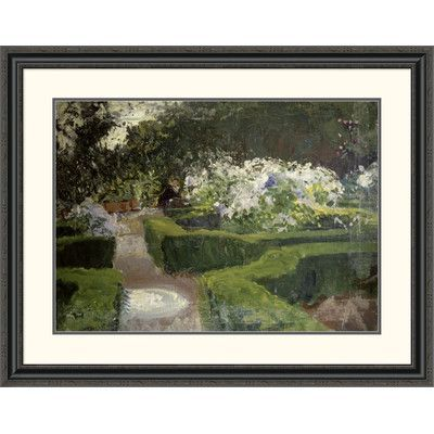 "Global Gallery 'Garden at Granada' by John Singer Sargent Framed Painting Print Size: 31.48"" H x 40"" W x 1.5"" D"