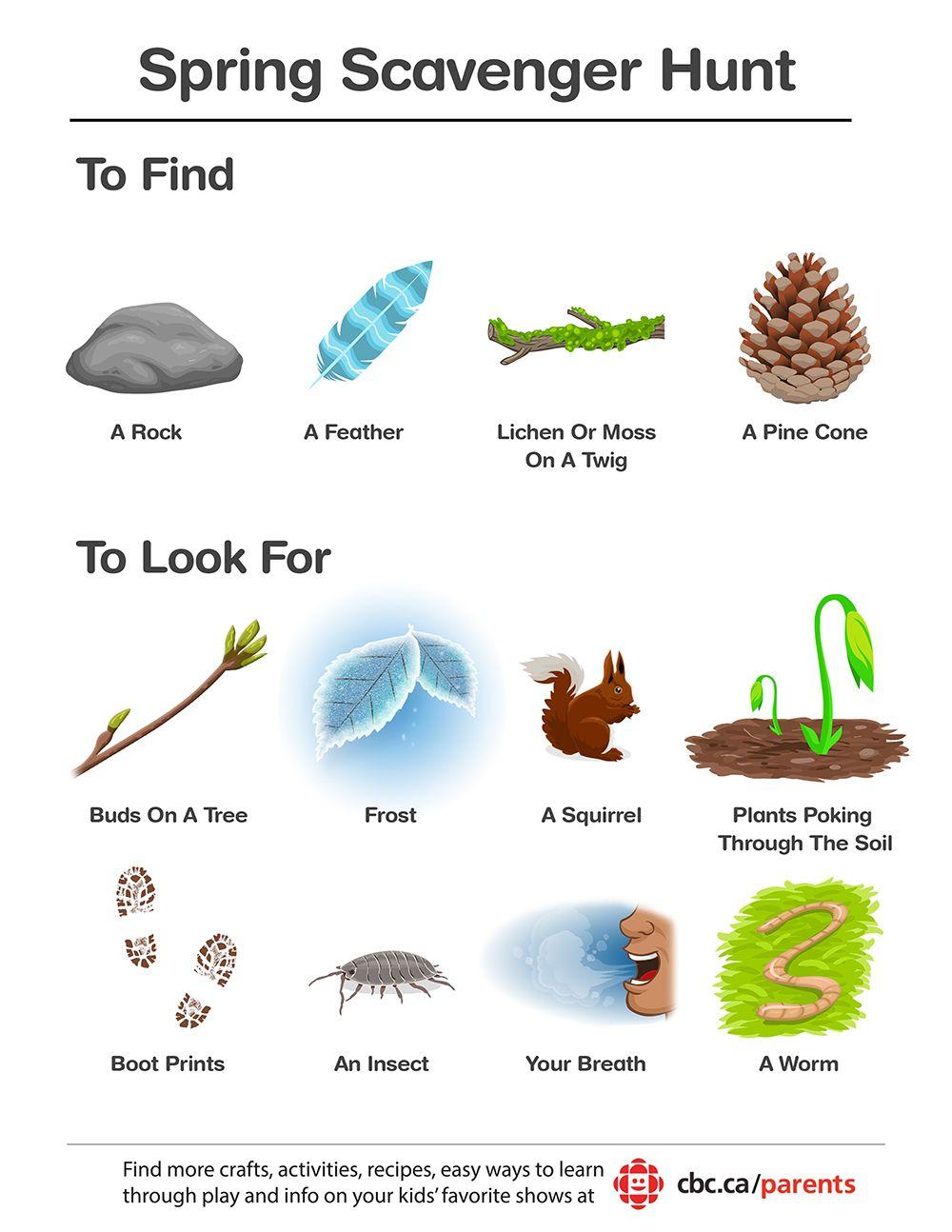 Image result for outdoor scavenger hunt kids