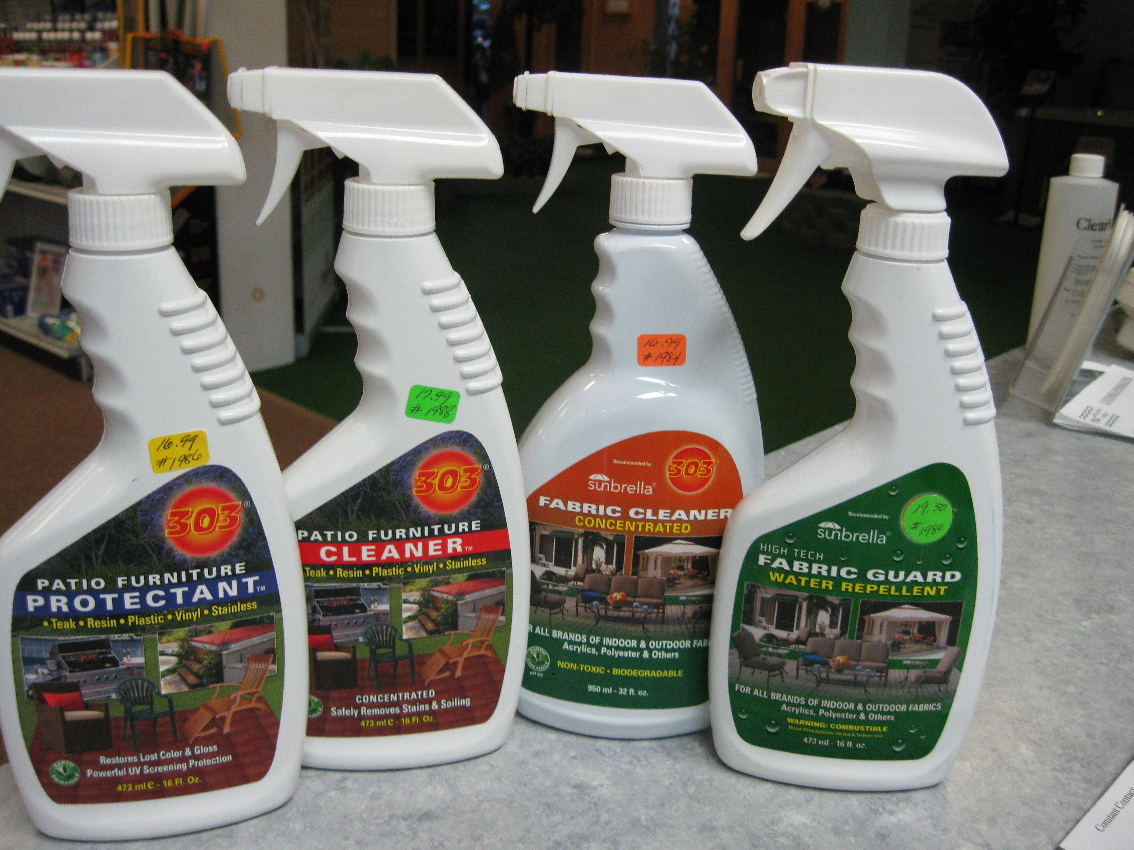 Try our New Biodegradable Patio Furniture Cleaners to keep your