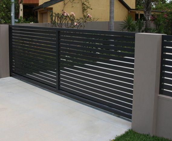 observez loriginalit de ce portail coulissant sur mesure en aluminium nao portail - Portail De Jardin