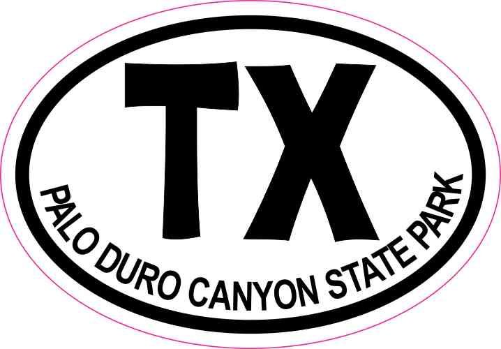 3 x 2 oval tx palo duro canyon state park texas sticker travel hobby decal