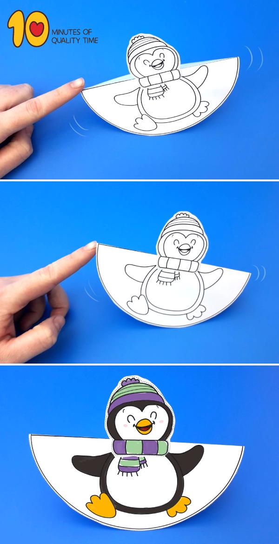 Dancing Penguin Craft #penguincraft