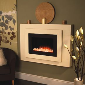 Flamerite Fires Dima electric hang on the wall electric fire ...
