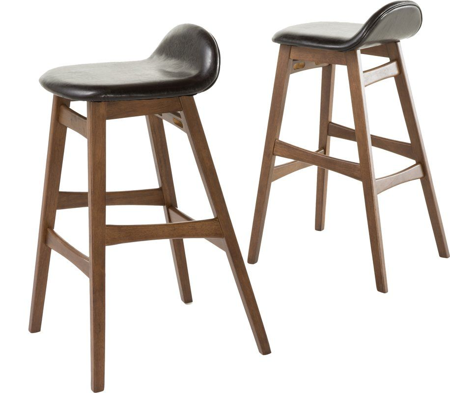Godbey 30 Bar Stool Bar Stools Upholstered Bar Stools Brown Bar Stools