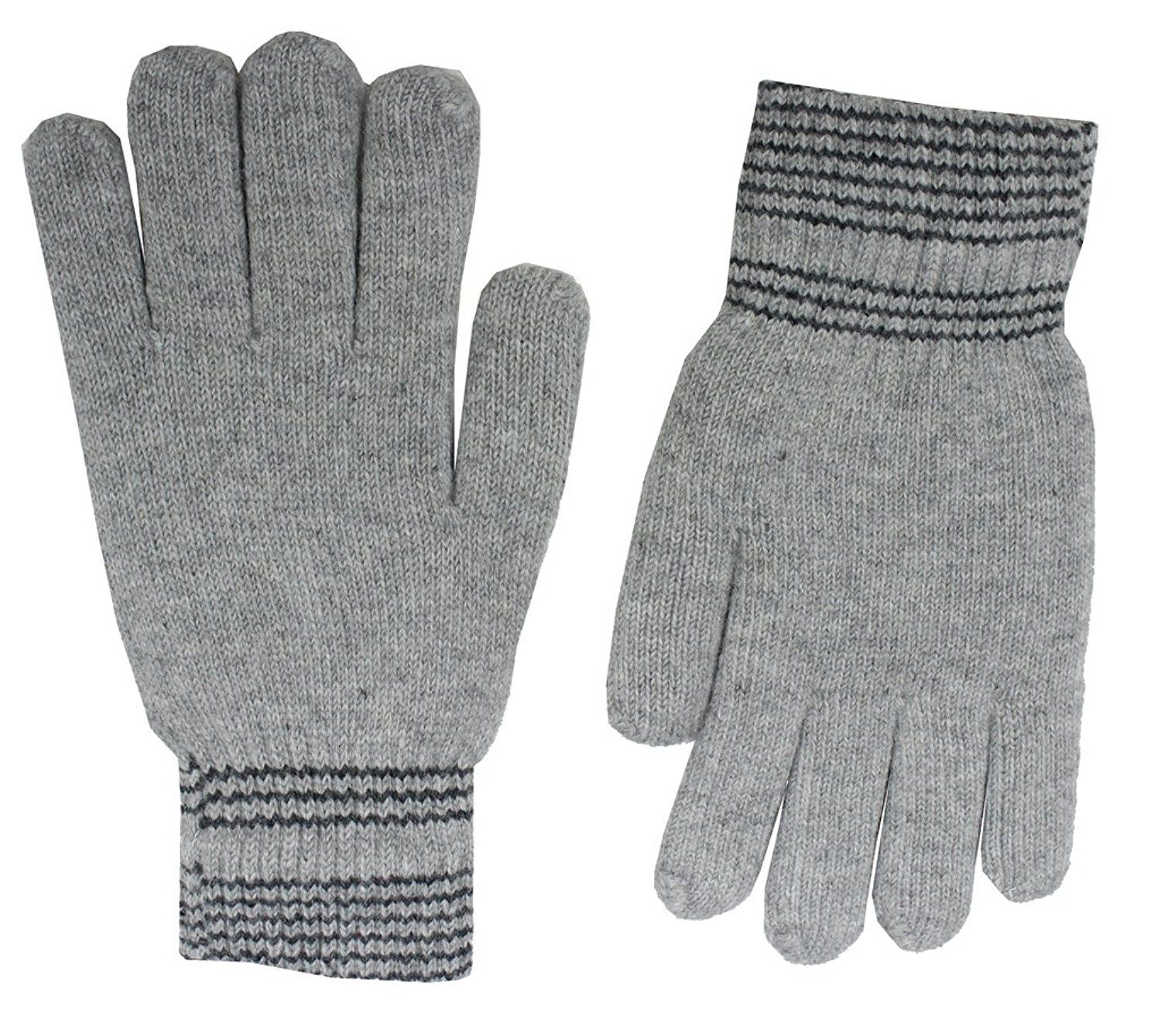 Romano Brown Warm Winter Wool Hand Gloves For Men