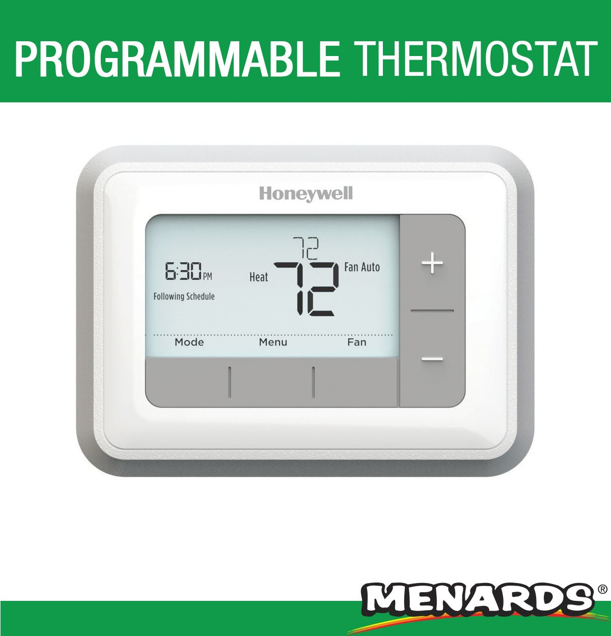 This Programmable Honeywell Thermostat Features A Large Backlit Display That Makes It Easy To Heating And Cooling Honeywell Thermostats Programmable Thermostat