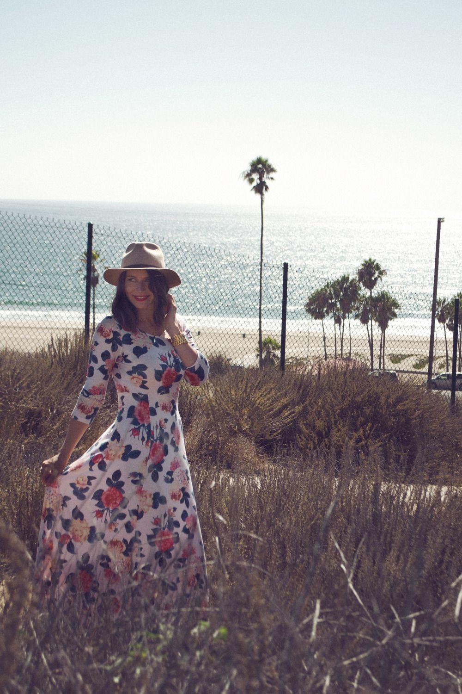 | Flowered dress for fall |