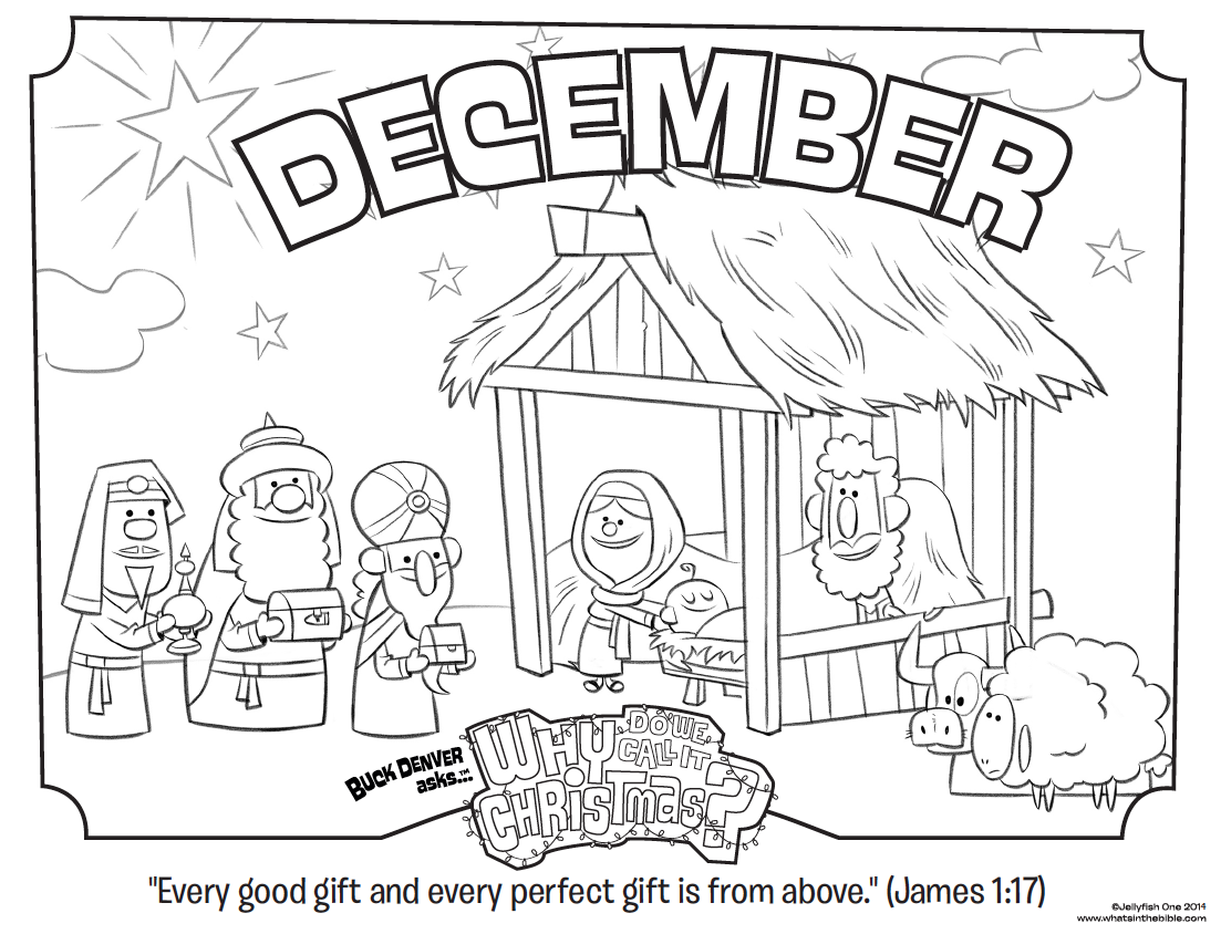 December Coloring Page James 1 17