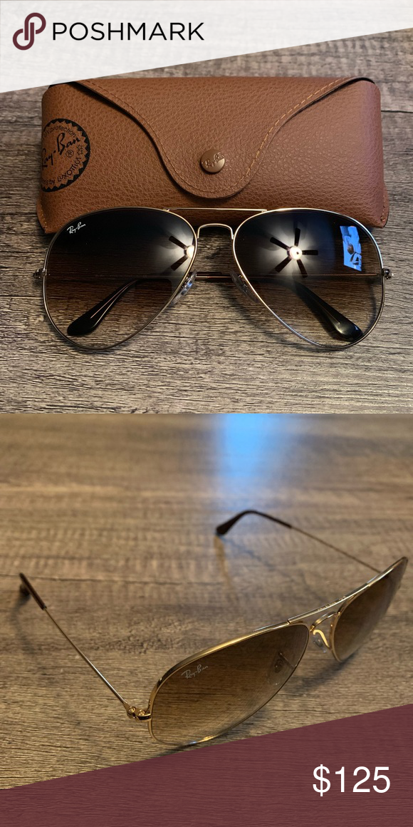 6df414b86 Ray-Ban Sunglasses Ray-Ban RB3025 Large Metal Aviator Ariana/ Crystal Brown  Gradient