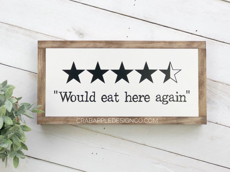 Kitchen Decor Funny Kitchen Signs Would Eat Here Again Etsy Funny Kitchen Signs Wood Kitchen Signs Kitchen Signs