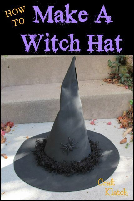 Learn how to make a Witch Hat craft tutorial  Halloween  Halloween crafts  halloween diy  diy  witch  witch craft  witch diy  witch hat  how to  crafts witch How to Make...