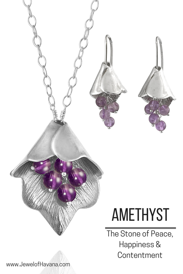 Amethyst Necklace And Earrings Stone Of Hiness Contentment Jewelry Made In Baton Rouge Louisiana Amethystnecklace
