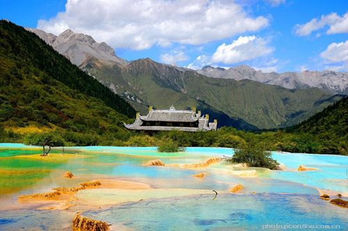 The Limestone Basins at Huanglong, China