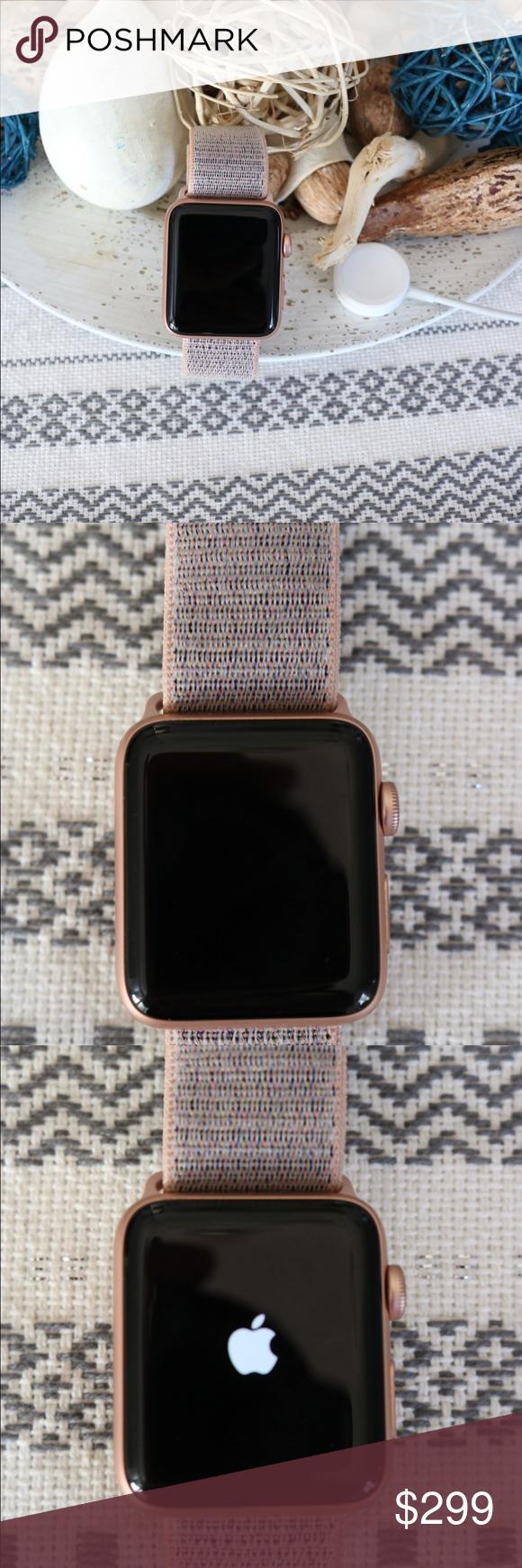 Rose Gold Apple Watch Series 3 42mm Pink Loop Band Rose Gold Apple Watch Apple Watch Apple Watch Series 3