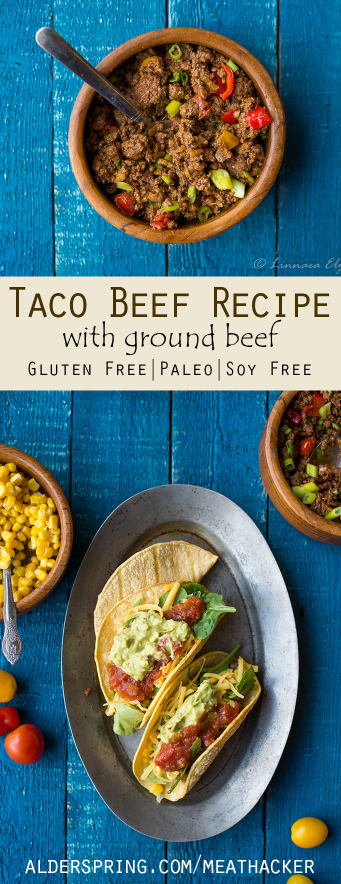 Taco Beef Recipe with Ground Beef #groundbeeftacos Taco Beef Recipe with Ground Beef Paleo & Gluten Free | Meathacker #groundbeeftacos