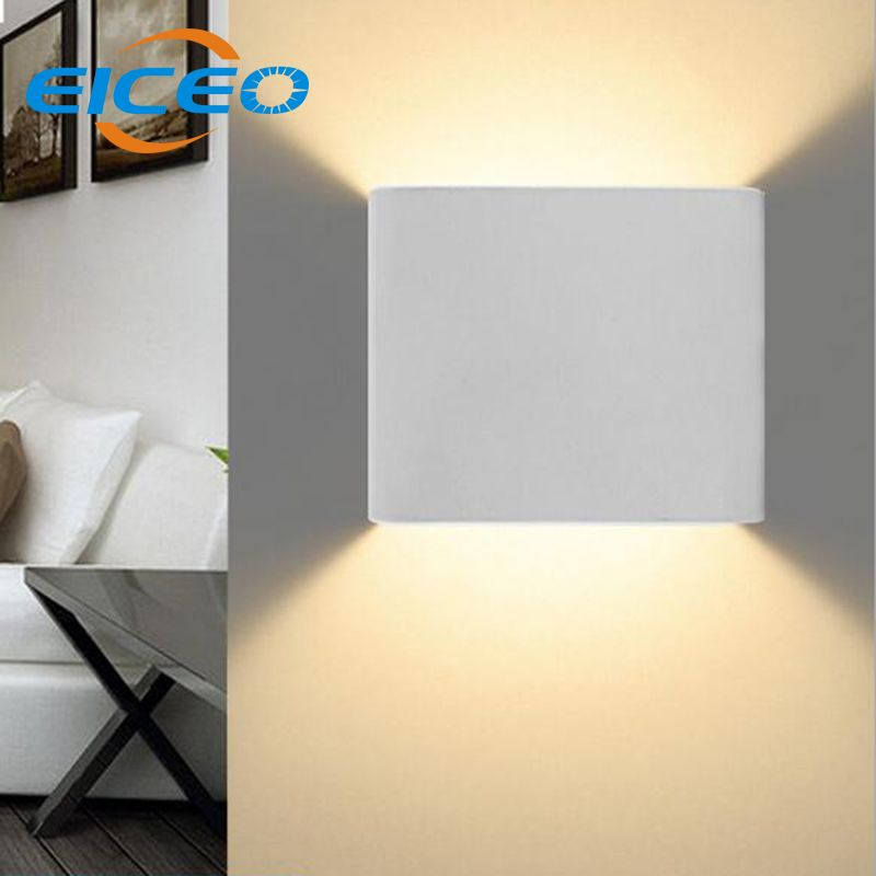 Eiceo 3w led wall lamp indoor surface mounted cube led wall light eiceo 3w led wall lamp indoor surface mounted cube led wall light white aloadofball Choice Image