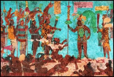 Did The Ancient Maya War With One Another Mayan Art Painting
