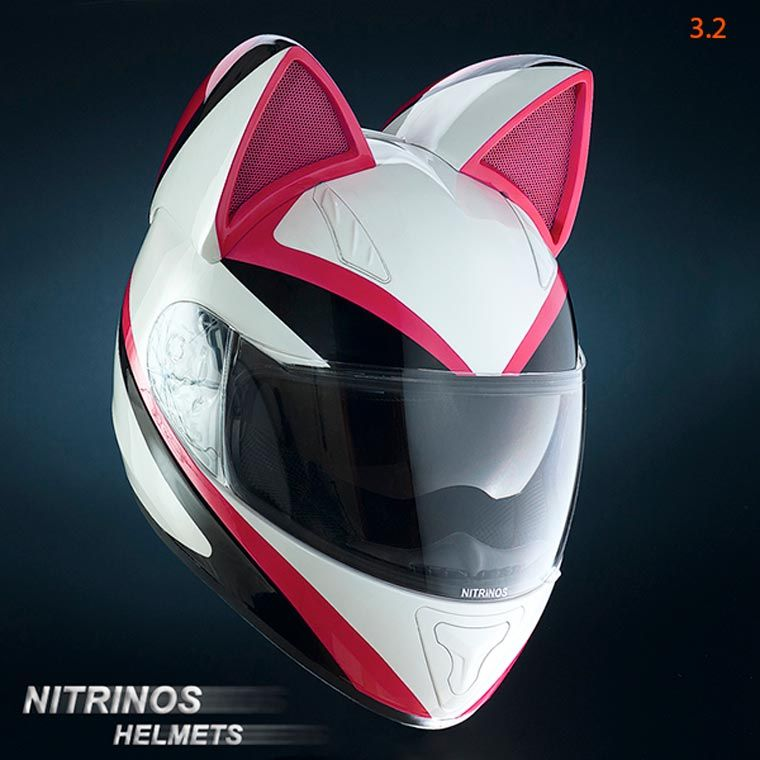 neko helmet des casques de moto adorables avec des oreilles de chat moto pinterest moto. Black Bedroom Furniture Sets. Home Design Ideas