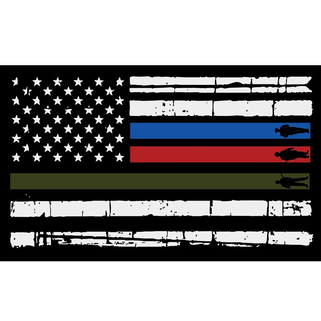 Usa Flag Firefighter Police Military American Flag Wallpaper Cool American Flag Flag Decal