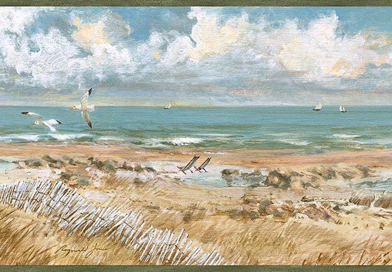 Windy Beach Sand Dunes Wallpaper Border Pb58043b Wallpaper Border Beach House Colors Beach Sand