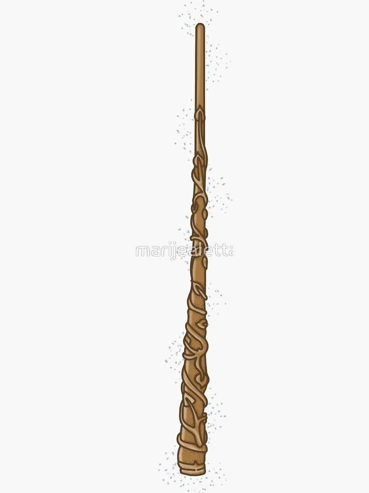 Hermione Granger Wand Sticker By Marijealetta Redbubble Hermione Harry Potter Wands Diy Harry Potter Tattoos Harry Potter Diy
