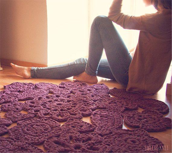 Trapillo Teppich häkeln Muster von Blumen. Teppich von SusiMiu ...