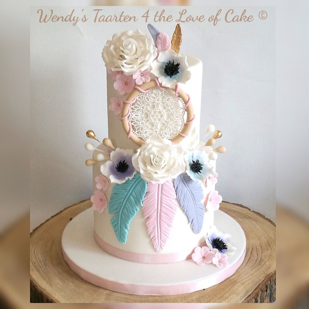 Bohemian Dream Catcher Cake Bohemian Cake Birthday Cake Girls Dream Catcher Cake