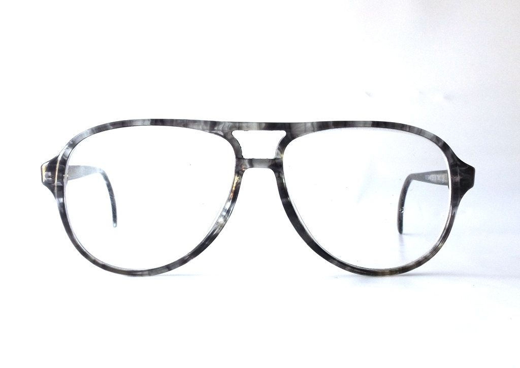 bfe9ec994f vintage 50 s titmus horn rim aviator eyeglasses frames retro eye glasses  eyewear optical used old plastic men double bridge grey gray black by ...